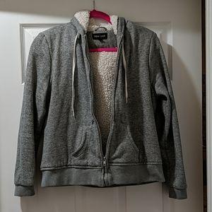Gray zip up sweatshirt